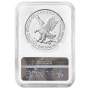 2021-W 1 oz Burnished American Silver Eagle Coin - Type 2 - NGC MS-70 Early Release
