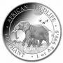 2022 1 oz Somalian Silver Elephant Coin - Gem BU