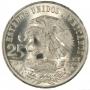 1968 Mexican Olympic Dancer Silver 25 Pesos Coin - BU