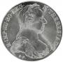 (1780) Austrian Maria Theresa Silver Restrike Coin